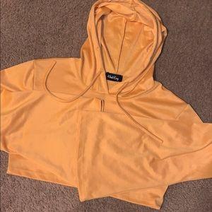 KLOSET ENVY cropped mustard hoodie